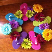 Summer Flip Flop Flower Wreath