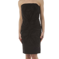 Fendi Organze and Beaded Sheath Dress