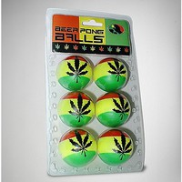 Beer Pong Balls Rasta 6 Pack - Spencer's