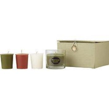 Candle Gift Box Heather Leaf Box Set Contains One Anjou Pear-Lemongrass Small Glass Vase