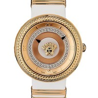 Versace - V- Metal Icon White and Gold