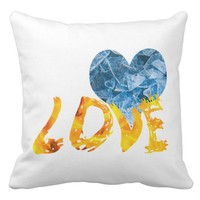 Ice - Warming Love Throw Pillow