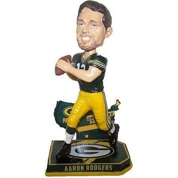 AARON RODGERS #12 GREEN BAY PACKERS NATION PLAYER BOBBLEHEAD #/2016 NEW