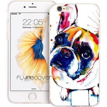 Coque Capa French Bulldog Clear Soft TPU Silicone Phone Cases for iPhone X 8 7 Plus Case for iPhone 5S 5 SE 6 6S Plus 5C 4S Case