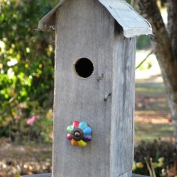 Rustic Reclaimed Wood Birdhouse Primitive Birdhouse Wood Birdhouse