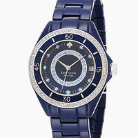 Kate Spade Pave Enamel Seaport Grand Watch Navy ONE