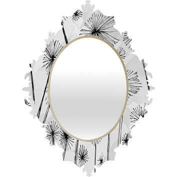 Julia Da Rocha Black Dandelion Baroque Mirror