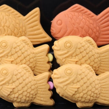 Set of 6 Taiyaki Erasers