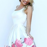 Short Ivory Sherri Hill Dress