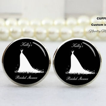 Wedding dress of the groom Cufflinks-Birde gift ideal , Wedding Date and name , Custom TEXT,Photo, Best Gifts For Father, with Free Gift Box