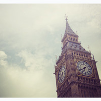 London photograph, England, Big Ben, travel wall decor, 8x10 print - clock tower, victorian, drmatic, sky - Gloomy Days of London