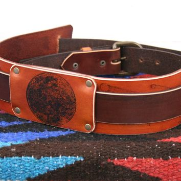 Night Sky Leather Guitar Strap *Free Customization*