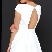 Blessing In Disguise Ivory Skater Dress