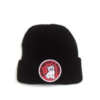 STOP BEING A PUSSY (NAVY) BEANIE