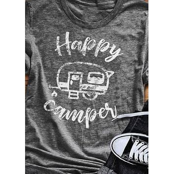 Happy Campers - Camping - Campfire/Bonfire - Women's T-shirt