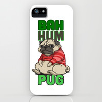Bah Hum Pug iPhone & iPod Case by LookHUMAN