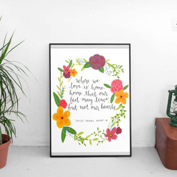 Instant printable, drawing & illustration, wall art prints, wall art quotes, hand lettering print, whimsical art print, printable wall art