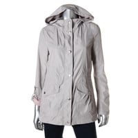 Jessica Simpson Womens Moisture Wicking Hooded Raincoat