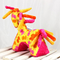 Sensory Toy Horse Chickens Yellow Mascot Newborn Gift Cuddly Toy