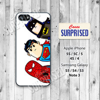 Cute Superhero, Batman, Spider-man, iPhone 5 case, iPhone 5C Case, iPhone 5S case, Phone case, iPhone 4 Case, iPhone 4S Case, sh03