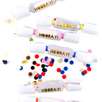 Hooray Mini Confetti Crackers