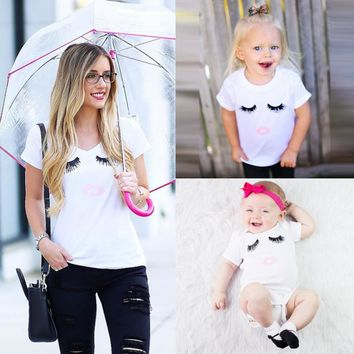 Family Match Clothes Summer Short Sleeve