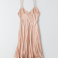 AEO Swingy Cutout-Front Dress, Blush
