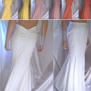 Women's Maxi Skirt, Mermaid Maxi Skirt, Mermaid Trumpet Skirt, White Mermaid Maxi Skirt, Sexy Skirt, Prom Skirt, Bride Skirt, Maxi Skirt