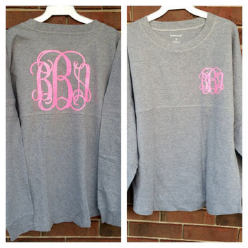 Monogrammed Spirit Jersey, Monogrammed gifts, Sorority Sister gift, Available in Children's and Women's sizes