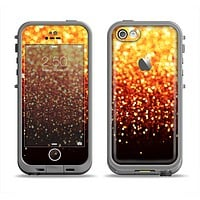 The Faded Gold Glimmer Apple iPhone 5c LifeProof Fre Case Skin Set