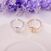 Jewelry New Arrival Shiny Gift Stylish Strong Character Alphabet Simple Design Ring [4915699652]
