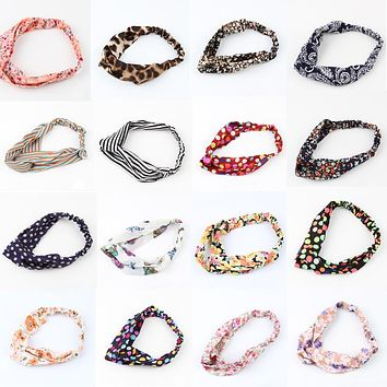 1Pc Fashion Women Flower Hair Band Turban Head Wrap Headband Twisted Knotted  Head Wrap Dropshipping