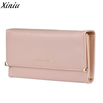 Women Wallet Candy Colord Clutch Long Purse PU Leather Wallet Credit Card Holder Bags Gift Carteira Feminina #9404