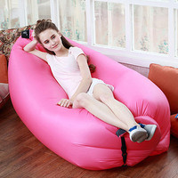 Fast Inflatable Hang Out Sofa Lazy Sofa Outdoor Camping Bed Lounge inflatable Sofa chair Beach Couch Chair Air Lazy sleep Bags