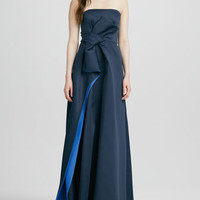 Strapless Bow-Waist Gown