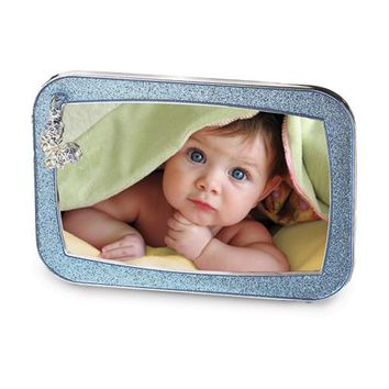 Pink or Blue Glitter Baby Booties Charm Photo Frame