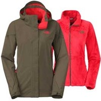 Gliks - The North Face Boundary Triclimate Jacket for Women in New Taupe Green
