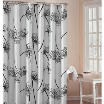 Soleil Luxury Light Silver Shower Curtain 70X72""