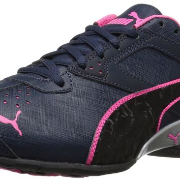 PUMA Women's Tazon 6 Accent Wn's Cross-Trainer Shoe Peacoat-puma Black-knockout Pink 8