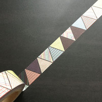 Washi Tape / Japan Sticky Adhesive Tape / Decorative Masking Tape Scrapbooking Tools Favor Stationery/ Party Triangle 10m m18