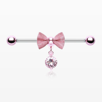 Colorline Adorable Mesh Bow-Tie Industrial Barbell