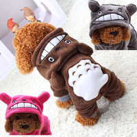 Cute Bear All Seasons Party Costume Soft Uniform Coat Clothes Hoodie For Pet Dog Puppy Cats HOT Cute Apparel FREE SHIPPING _ 5722