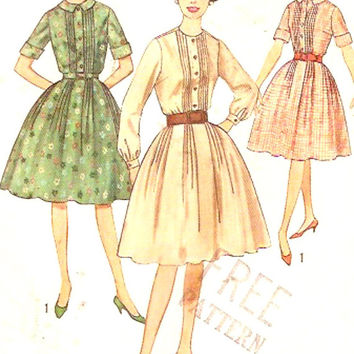 60s Rockabilly Dress Bridesmaid Grad Party Frock Vintage sewing pattern Simplicity 4667 Bust 36 cocktail party UNCUT