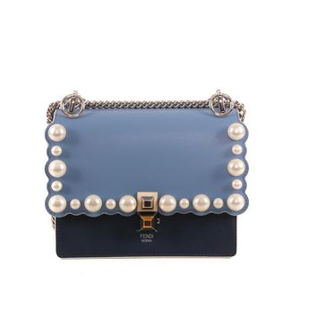 Fendi Blue Pearl Shoulder Bag