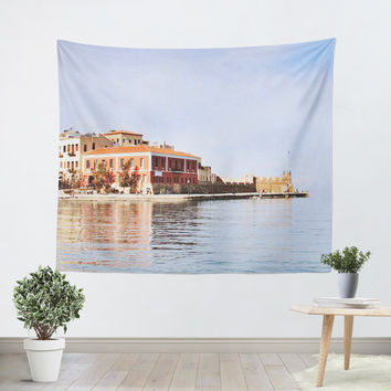 Old Venetian Harbor Tapestry