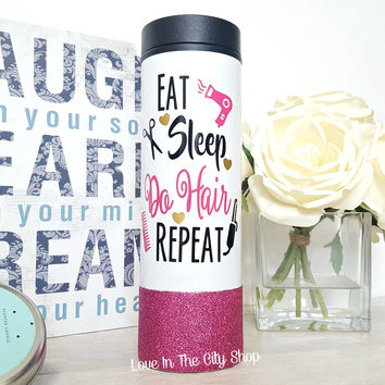 Custom Hair Stylist Mug (Travel Tumbler)