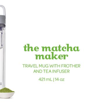 The Matcha Maker - Make Matcha On The Go With This Easy Shake-And-Sip Matcha Shaker | DAVIDsTEA