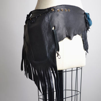 RESERVED For Jaycee - Fringe Leather Hip Bag Belt - Leather Hip Bag Belt - Leather Festival Belt Bag - Festival Accessories