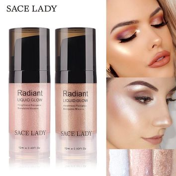 SACE LADY Liquid Highlighter Face Makeup Illuminator Glow Kit Make Up Brighten Shimmer Cream Facial Bronzer Contour Cosmetic