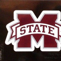 "Mississippi State Bulldogs 3"" Flat Sport Die Cut Decal Bumper Sticker University"